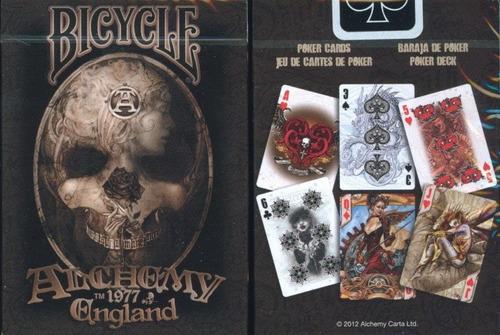 baraja cartas bicycle alchemy 1977 england segunda version