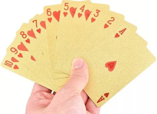 baraja de cartas doradas poker