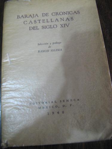 baraja de crónicas castellanas del siglo xiv. ramón iglesia
