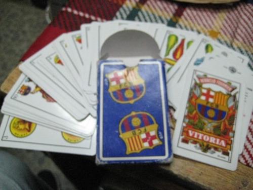 baraja - naipe - cartas de truco - fc barcelona