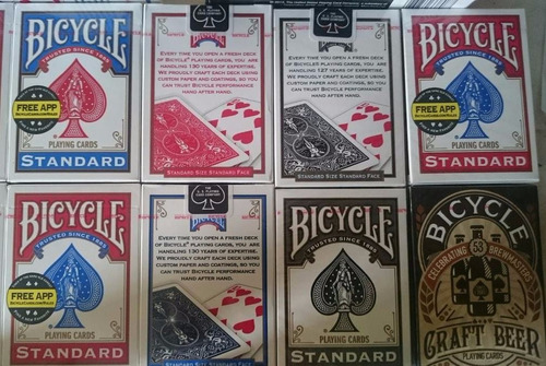 barajas naipes bicycle second made in ohio u.s.a cartas