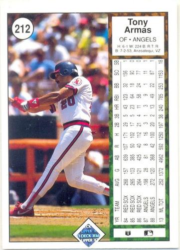 barajita antonio armas upper deck los angels 1989 # 212