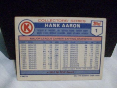 barajita beisbol topps 85 hank aaron oferta usada