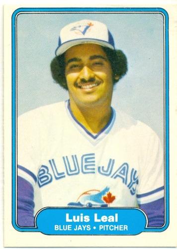 barajita luis leal blue jays fleer 1982 # 617