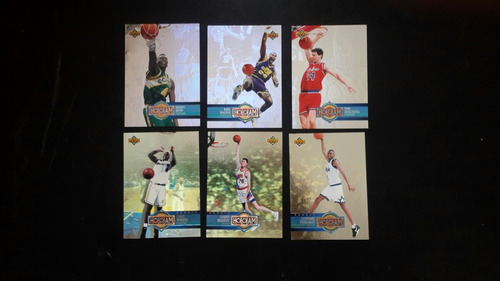 barajitas de basketball set upper deck 1994 hologramas.