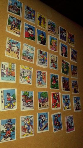 barajitas de personajes animados de los años 80