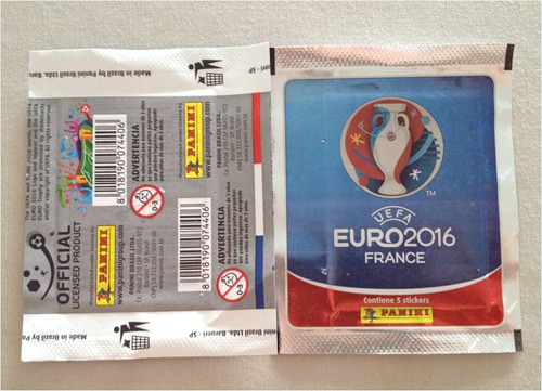 barajitas detalladas (pack 10) panini eurocopa 2016 francia