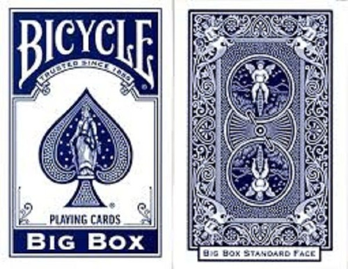 baralho bicycle big box azul