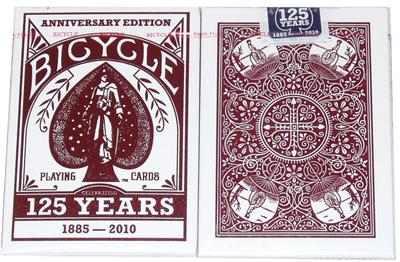 baralho bicycle edição aniversário 125 anos red pôquer poker