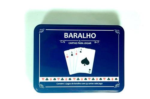 baralho carteado jogo cartas duplo de plastico poker truco