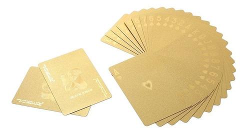 baralho dourado importado! sem estampa! poker cartas