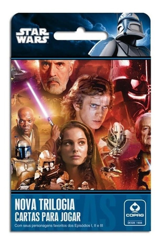 baralho - guerra nas estrelas - nova trilogia - novo
