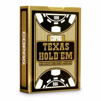baralho lacrado copag texas hold'em 100% plástico poker