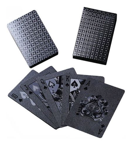 baralho  preto pvc black  diamante poker