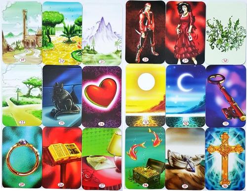 baralho tarô cigano com manual 36 cartas tarot esoterico