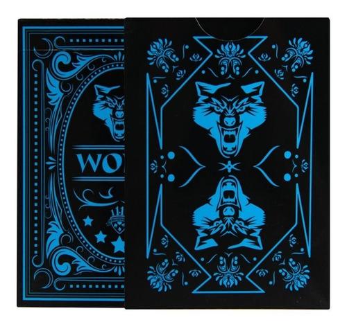 baralho wolf magica poker  impermeavel pvc