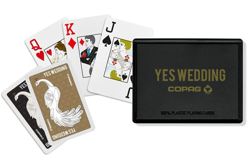 baralho yes wedding by copag 100% plastico