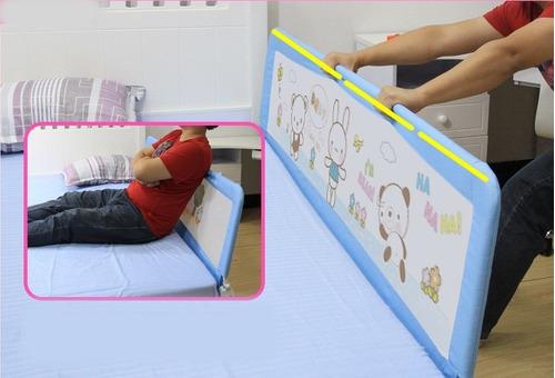 baranda de cama 150 x 64 celeste