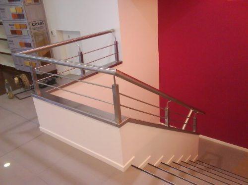Baranda de hierro para escalera 100 00 en mercado libre - Barandas para escaleras de hierro ...