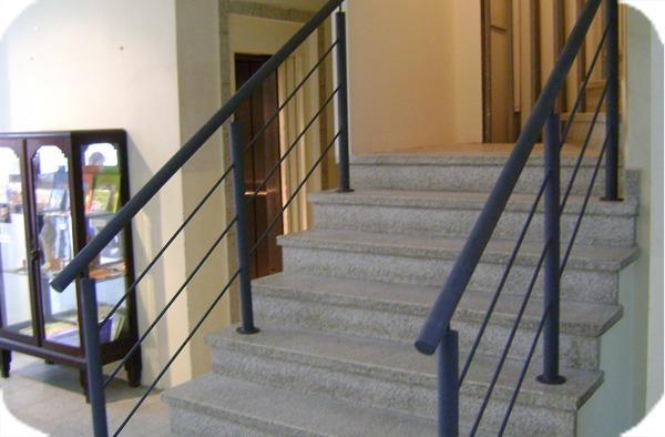 Barandas para escaleras baranda de acero inoxidable para for Barandas de escalera
