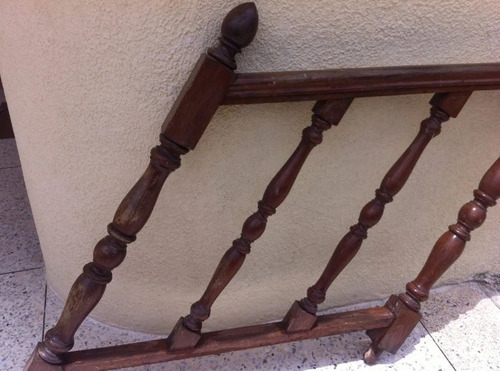 baranda de madera tipo puy para escalera largo 1,00 mts.
