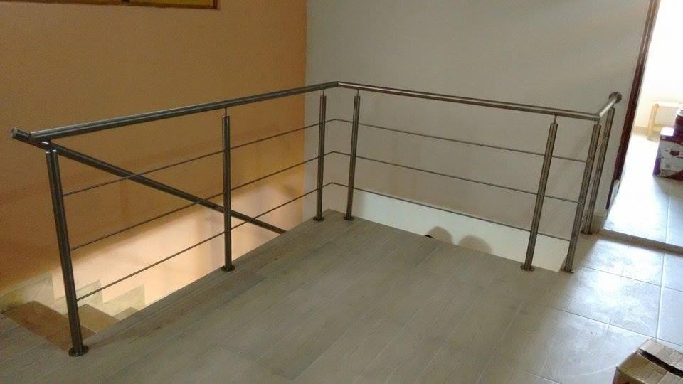 Barandal de acero inoxidable para interior 1 en for Percheros de acero inoxidable
