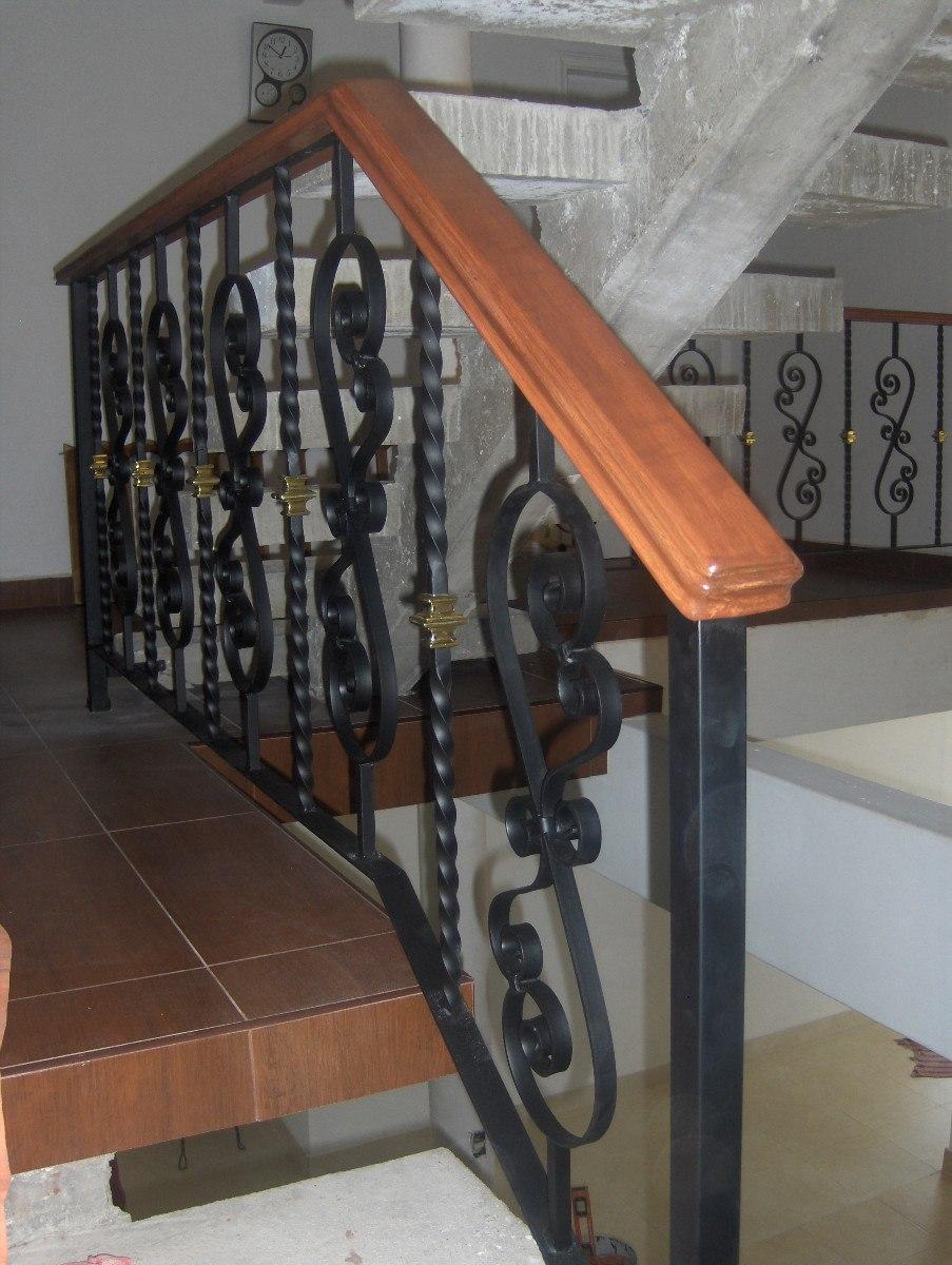 Barandal modelo clasic en herreria rustica fina m lineal - Barandales de madera exteriores ...