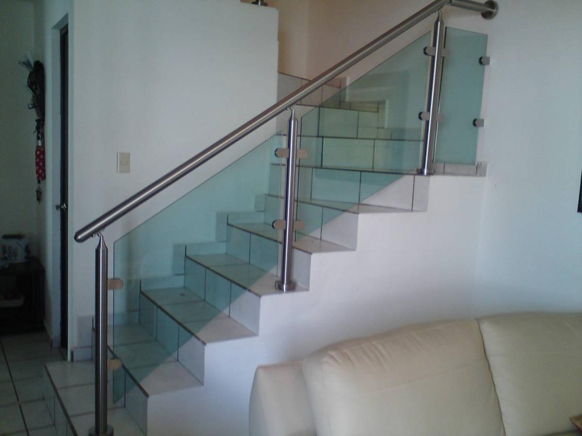 Barandales y cristales en acero inoxidable 1 en - Escaleras de acero y cristal ...