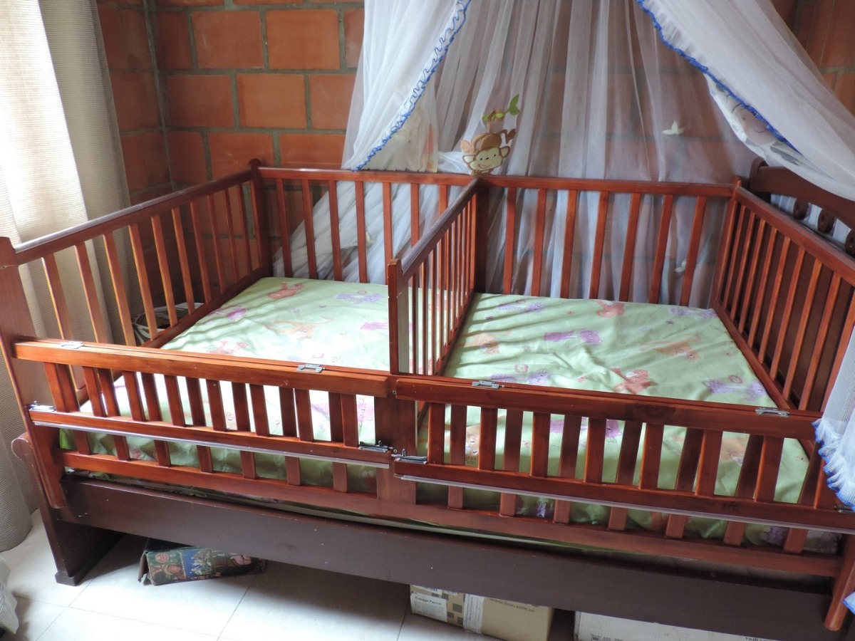 Barandas cama cuna doble corral gemelos mellizos 280 - Modelo de cunas ...