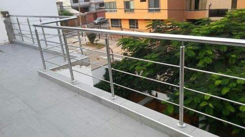 barandas de acero inoxidable y escaleras decorativas