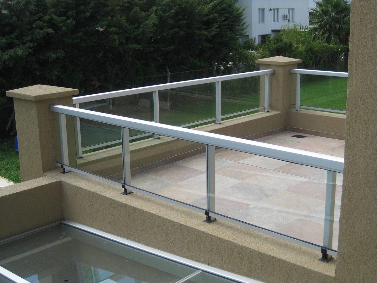 Barandas De Aluminio Y Vidrio. Balcones. Aberturas - en Mercado Libre