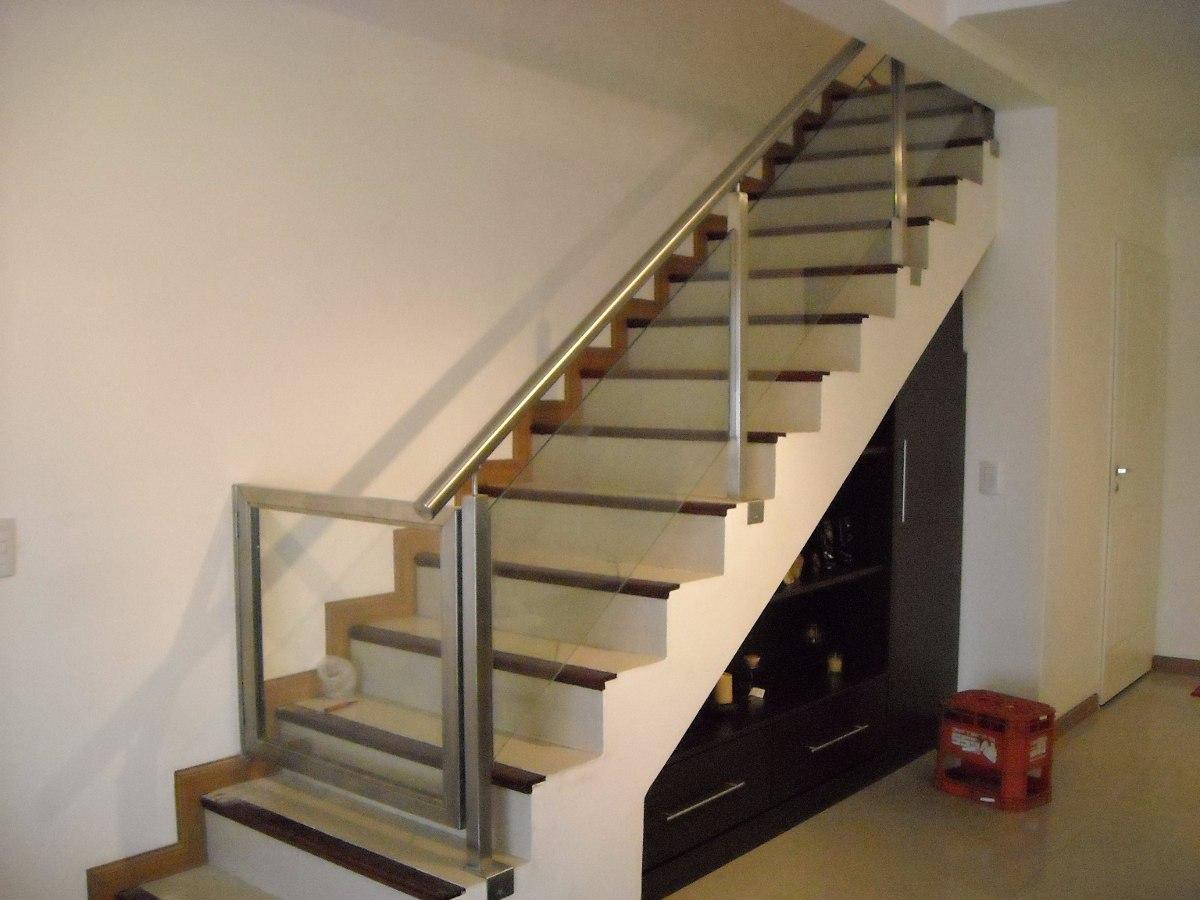 Barandas de escaleras y balcones de acero inox vidrio - Barandas para escaleras de hierro ...