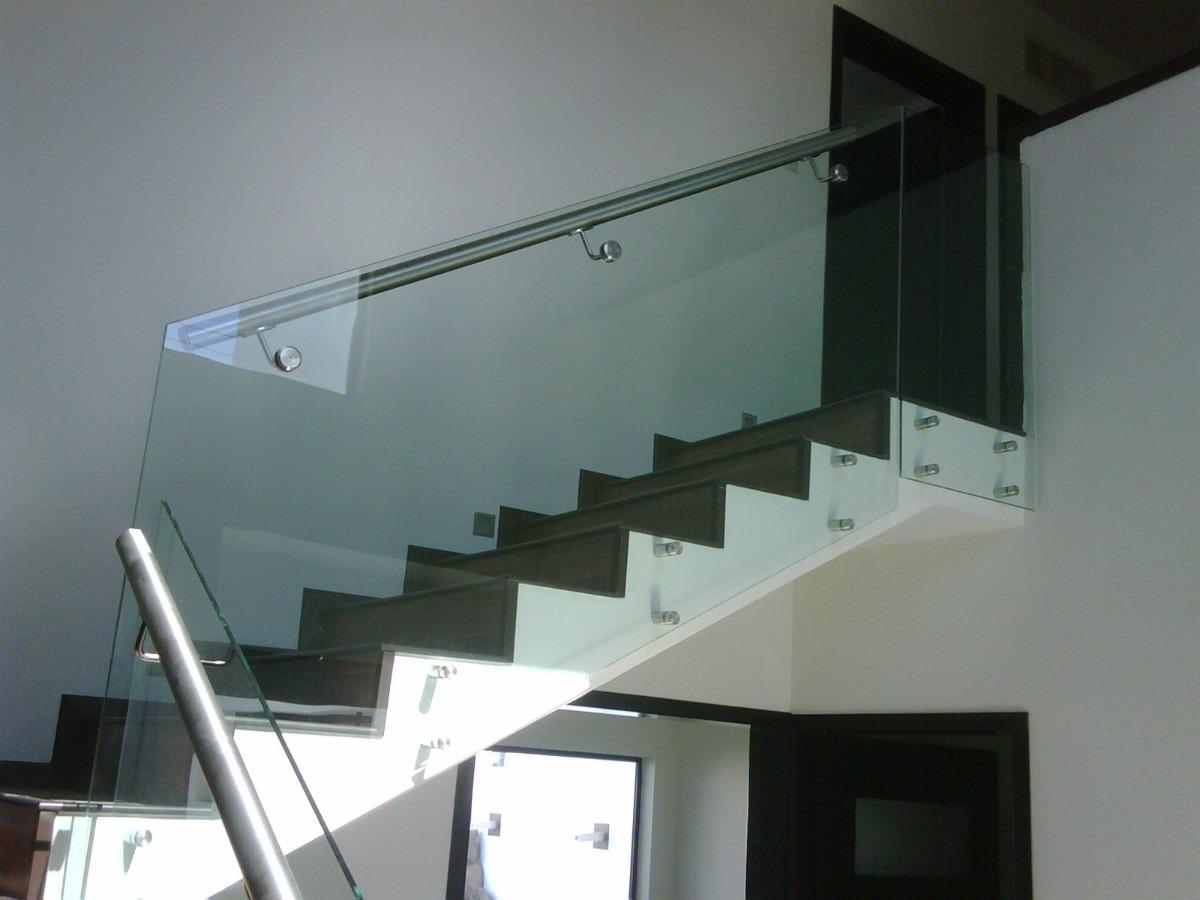 Barandas De Vidrio Templados Soporte De Aluminio Torneado 350  ~ Barandillas De Cristal Para Escaleras Interiores