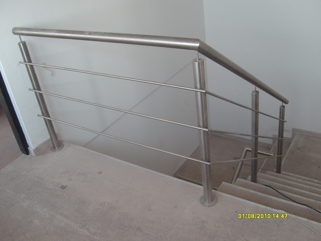 Escaleras acero escaleras acero primero y segundo piso for Barandas de escalera
