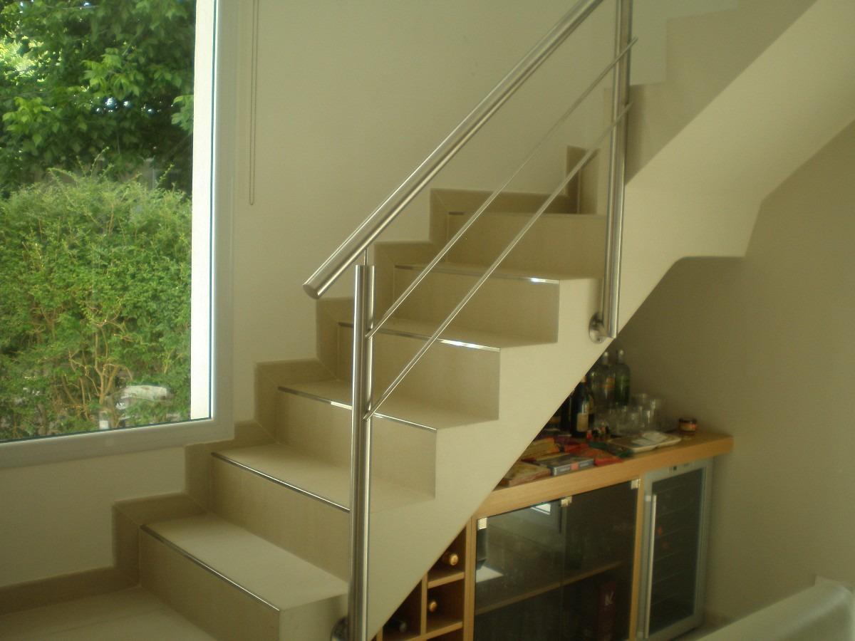 Escaleras de acero barandas en acero inoxidable escaleras barandas pasa manos y escaleras en - Barandas de madera para escaleras ...