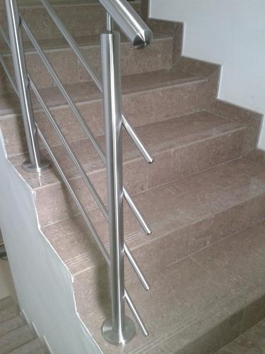 barandas en acero inoxidable, escaleras, topes, pasamanos