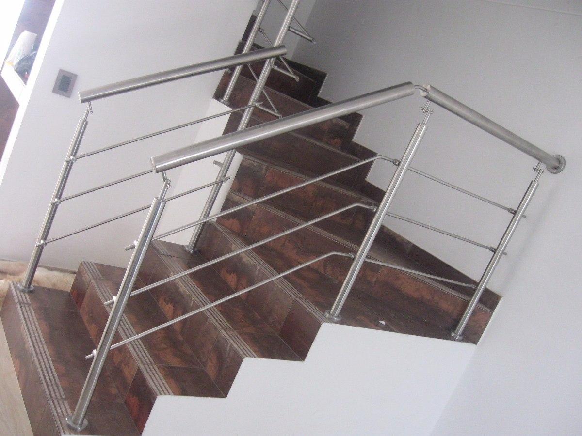 Barandas en acero inoxidable vidrio templado pasamanos - Pasamanos de acero ...