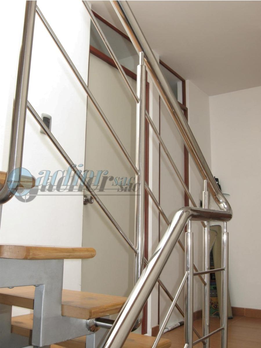 Barandas para escaleras en acero inoxidable 304 en - Baranda de escalera ...