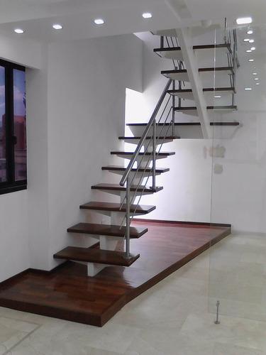 barandas, pasamanos, escaleras en acero inoxidable y vidrio