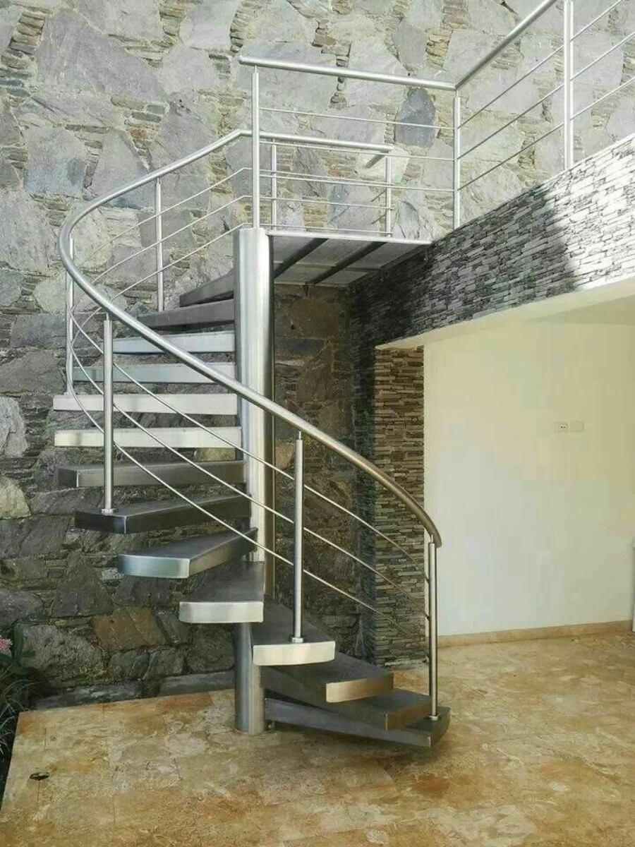 Barandas pasamanos escaleras en acero inoxidable y for Barandas de vidrio y acero