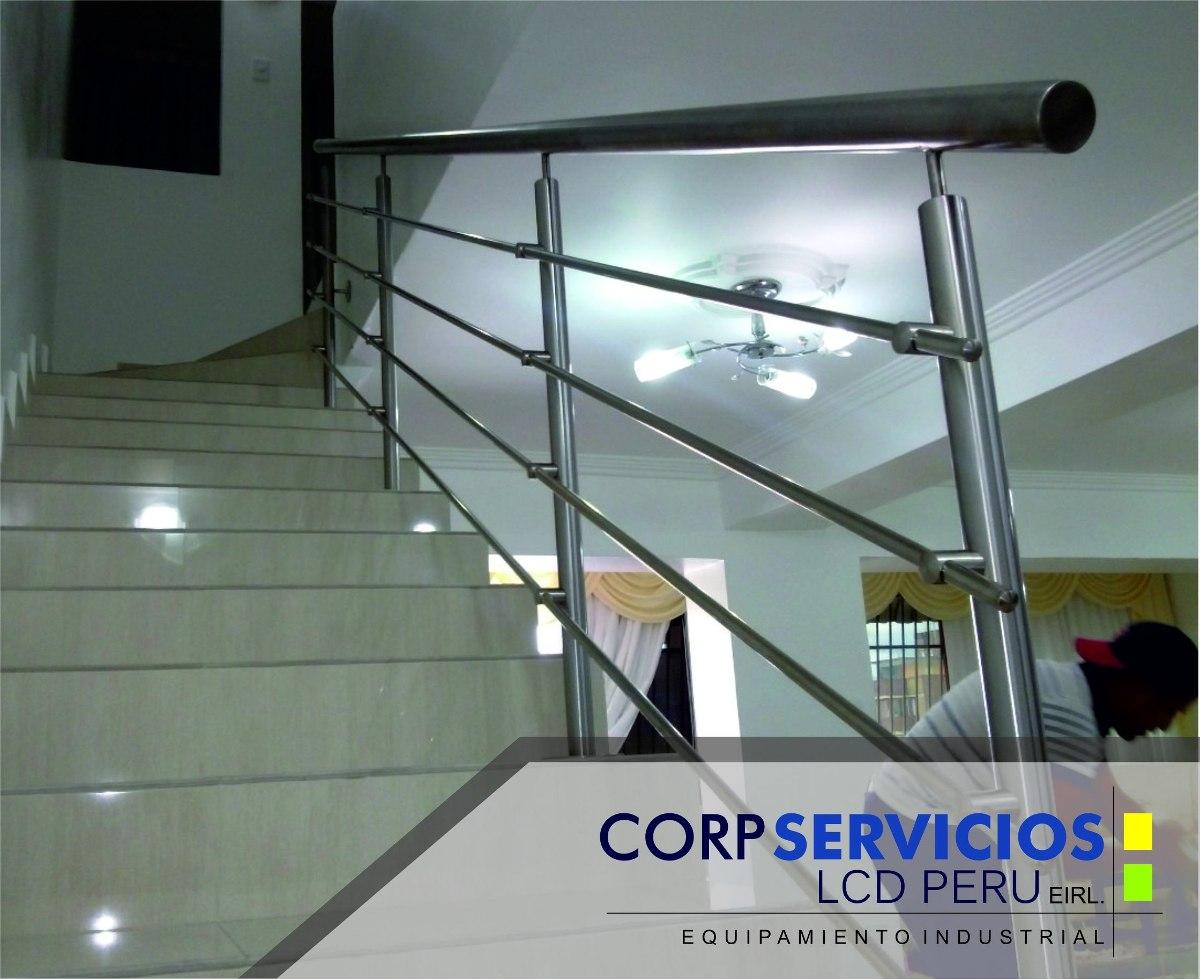 barandas pasamanos y escaleras de acero inoxidable y vidrio