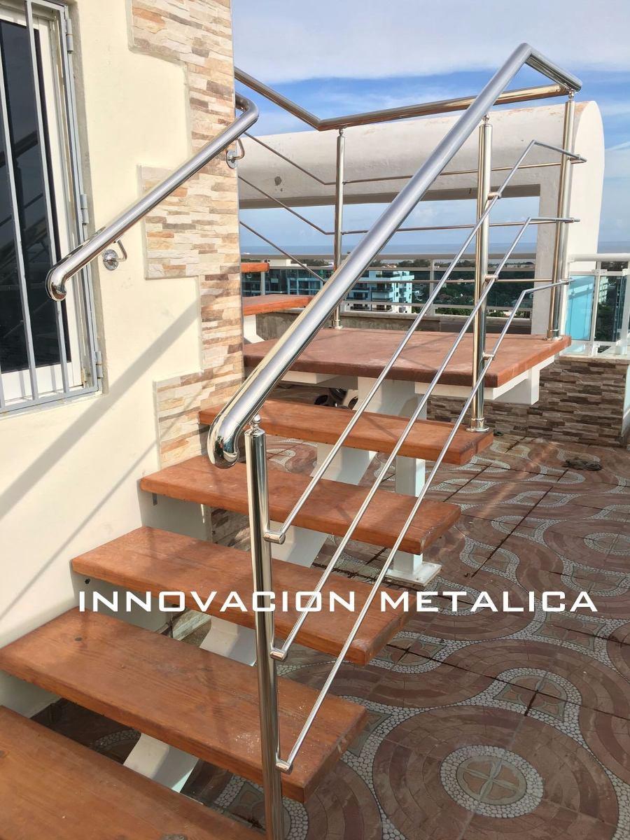 Barandas pasamanos y escaleras en acero inoxidable en for Pasamanos de escaleras
