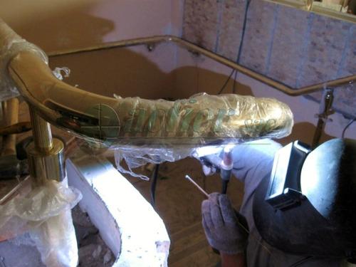 barandas y pasamanos de bronce