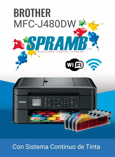 baratas impresoras brother mfc480dw con sistema continuo