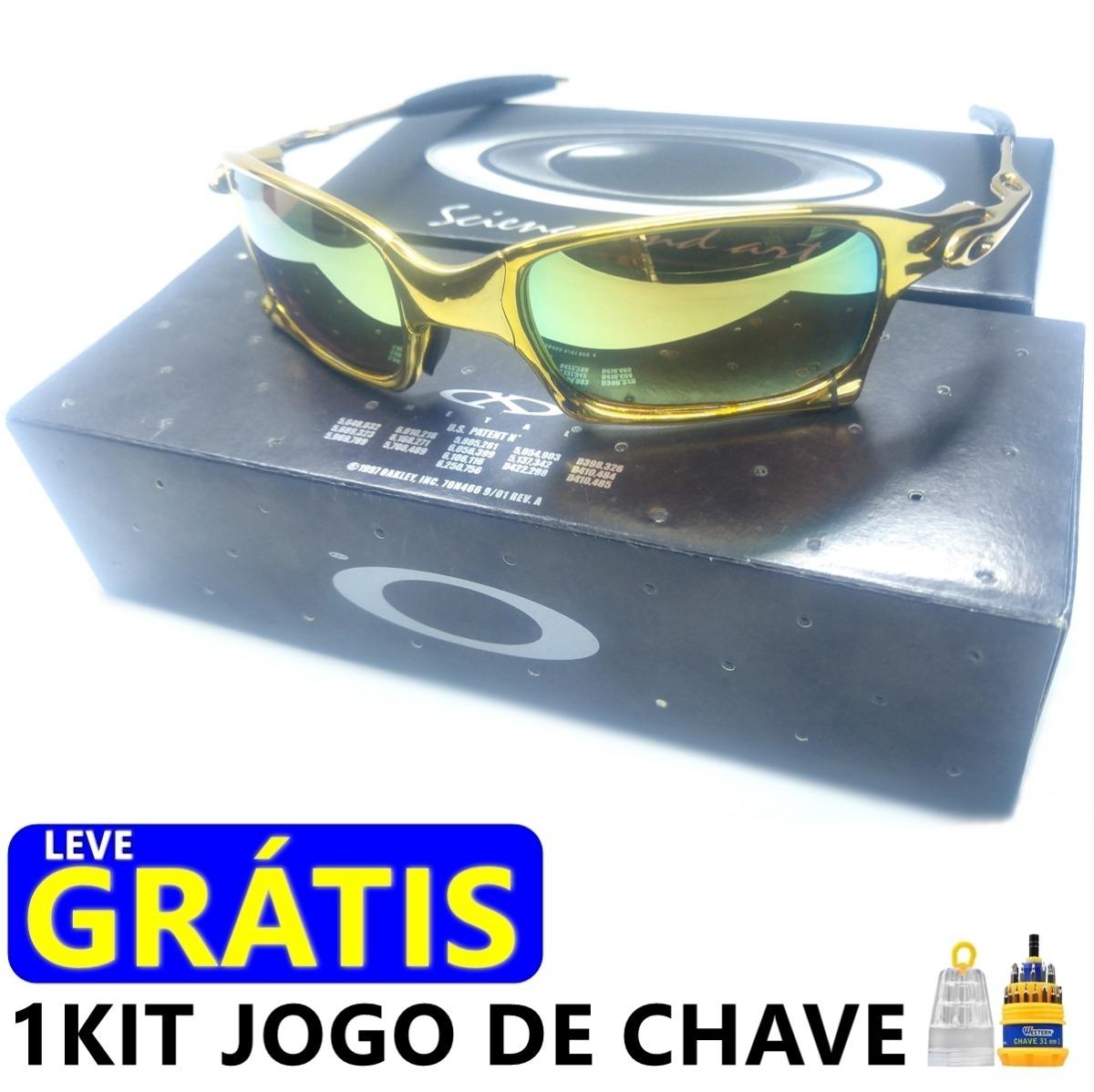 f6fa495c32b63 Barato.. Oculos Oakley X Squared Gold Armação Dourada Metal - R  120 ...