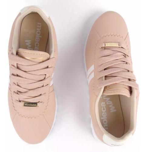 barato, promoção!!! tênis moleca tratorado rosa,preto,branco
