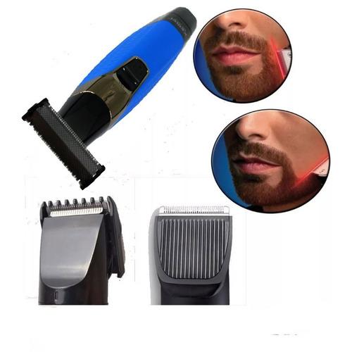 barba cabelo bigode maquina kemei nariz sobrancelha à pilha