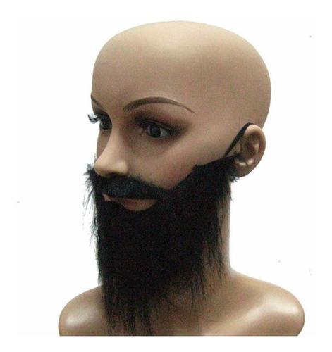 barba falsa bigode disfarce bin laden fake terrorista sorrir