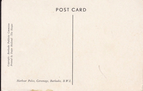barbados antigua postal harbour police en barco