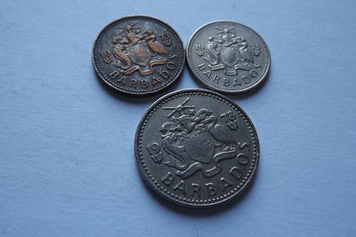 barbados- one cent e 10 cents 1973 e 25 cents 1978